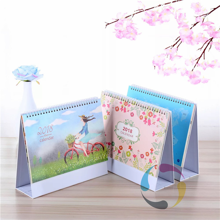 wholesale daily spiral bound tent desk calendar printing in China