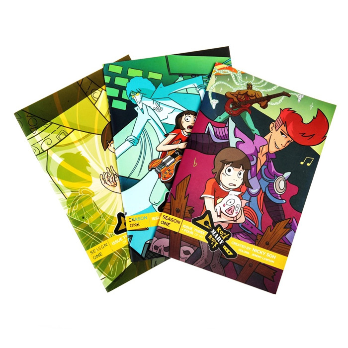 full color large quantity softcover children comic book printing