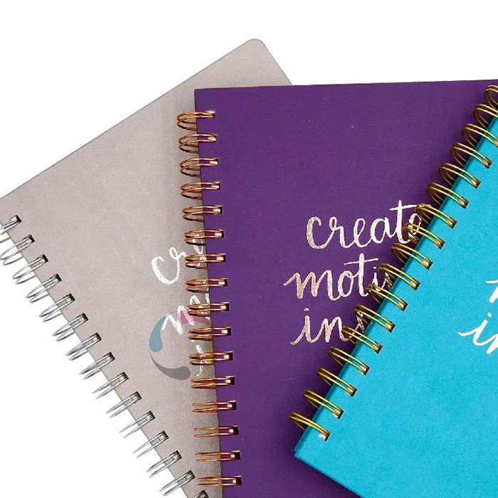 China factory promotional high quality colorful spiral notebook