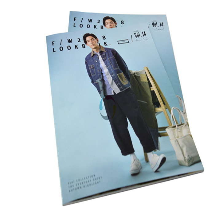 Shenzhen supplier color softcover clothing catalog printing service in China